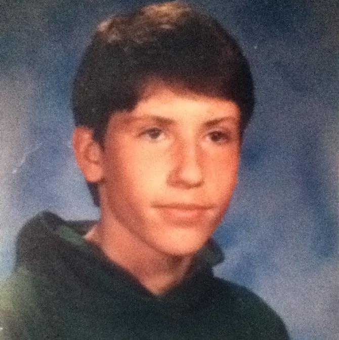 Dan Fergus before he was a scientist. School photo.