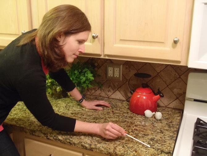 DrE sampling kitchen counter
